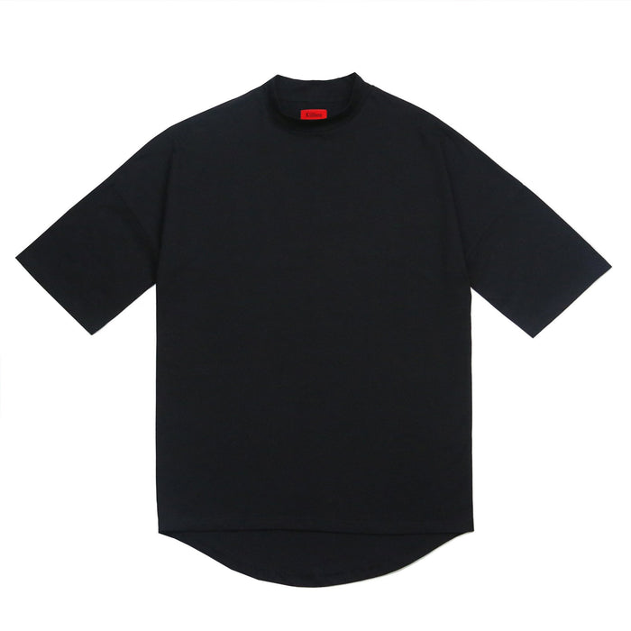Mock Neck Shirt - Black