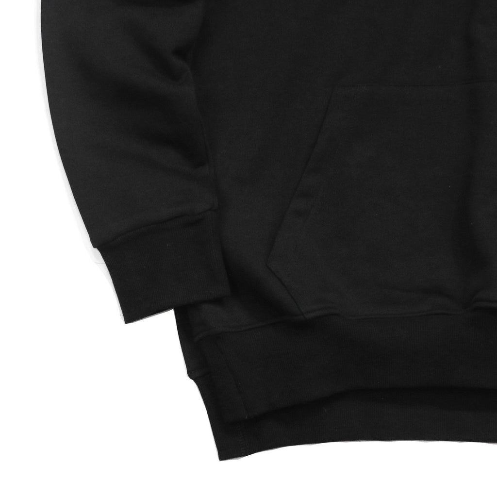 Access Preorder - Side Cut Quarter Zip Hoodie - Black