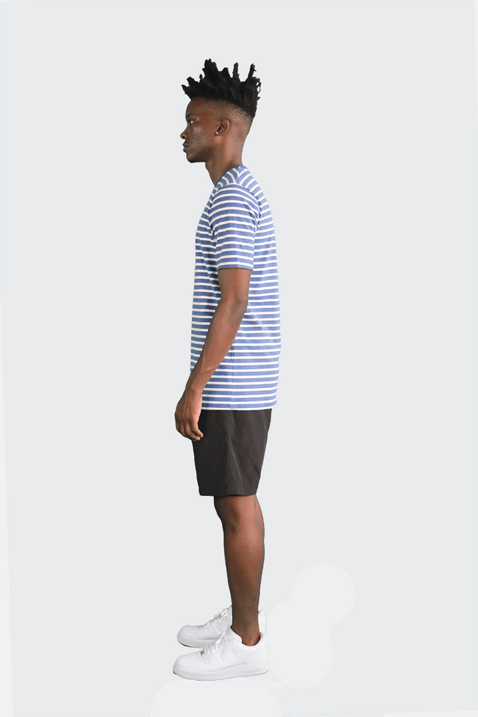 Standard Striped Essential S/S - Blue/White