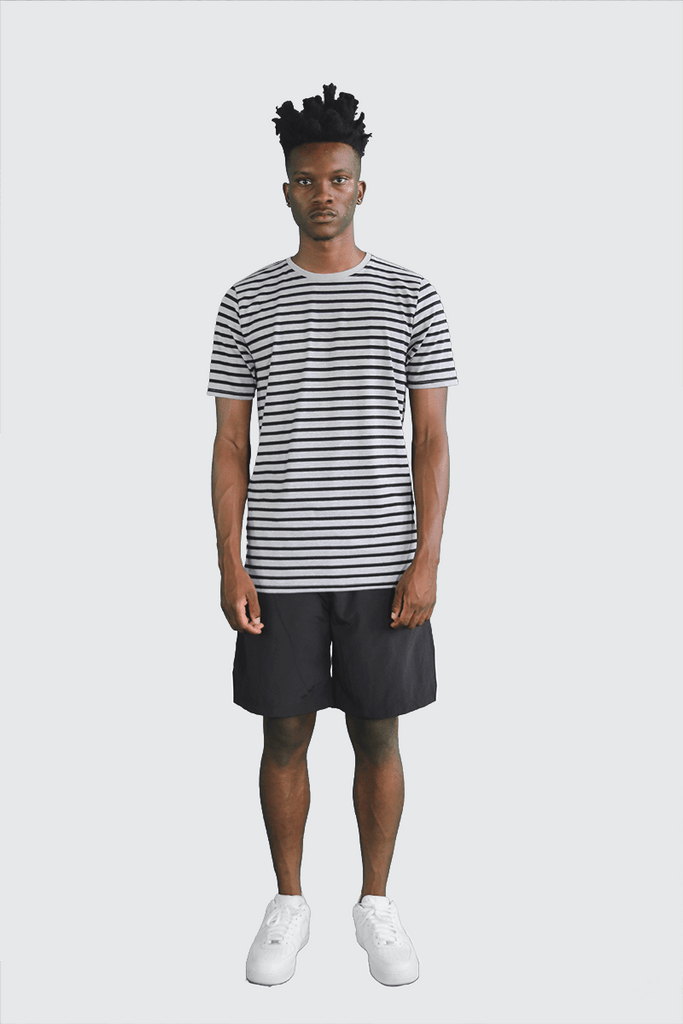 Standard Striped Essential S/S - Black/Grey