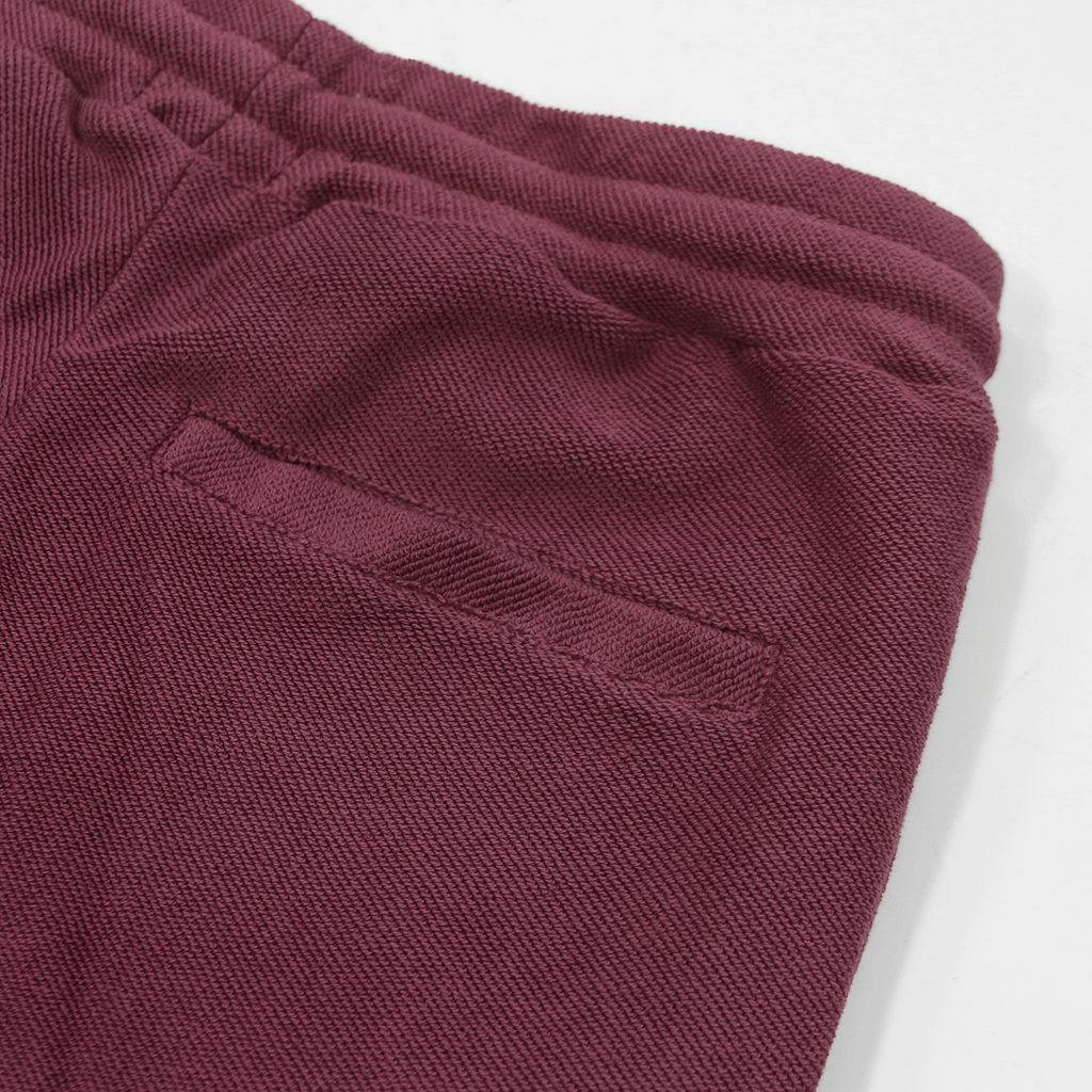 Reverse Terry Shorts - Plum