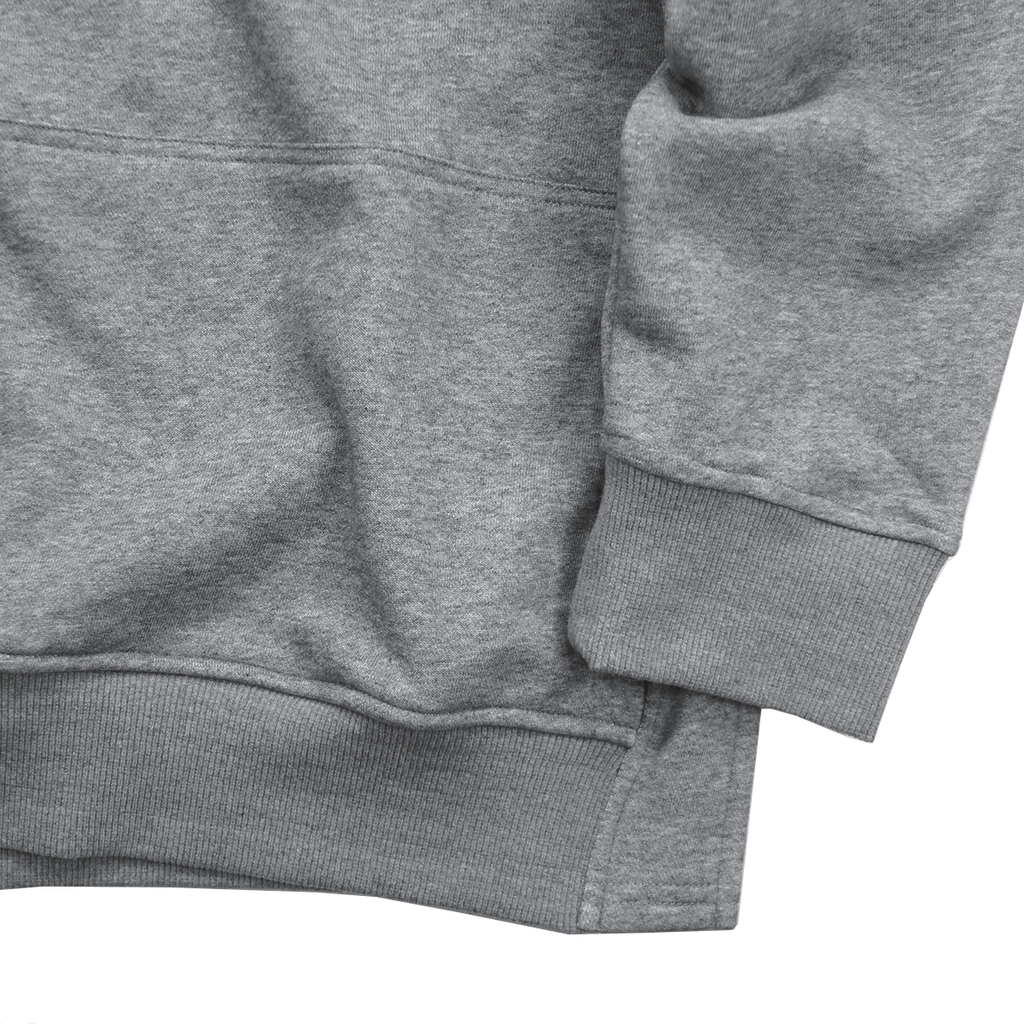 Oversized Side Cut Hoodie - Heather Grey