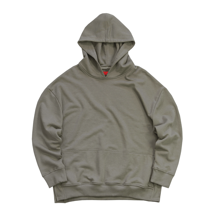 Oversized Side Cut Hoodie - Olive