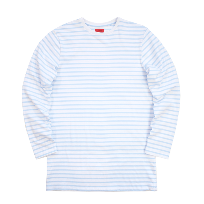 Standard Striped L/S Essential - White/Light Blue (09.01.20 Release)