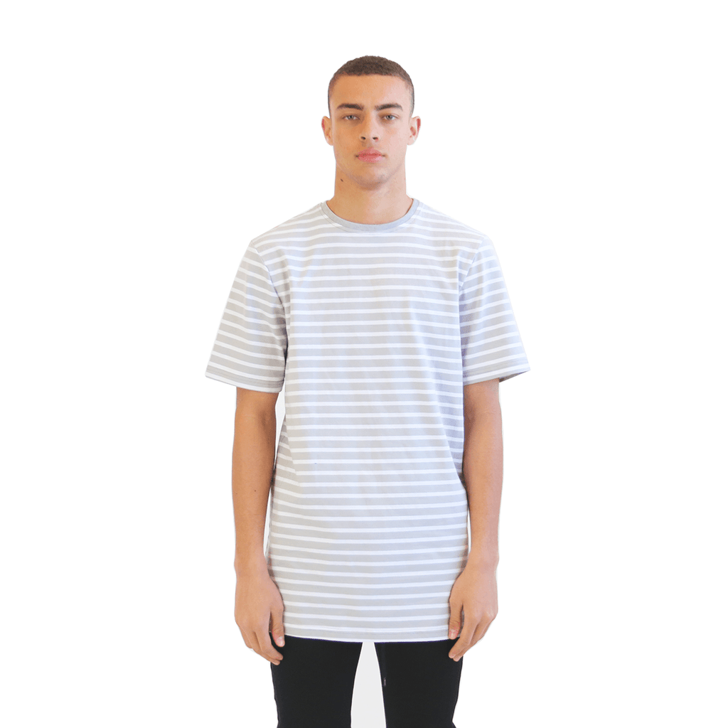 Standard Striped Essential - Light Gray/White