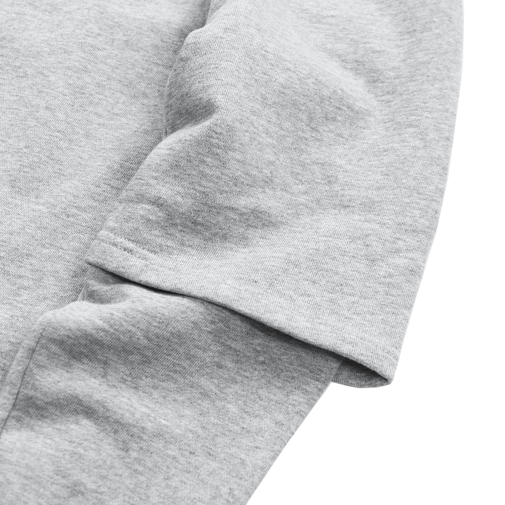 Oversized Double Sleeve Crewneck - Heather Grey