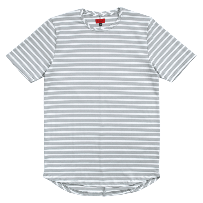 Mulberry Striped Scalloped Shirt - Light Grey/White (02.19.19 RELEASE)