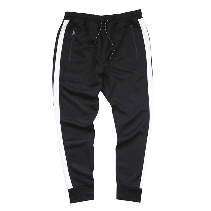 Side Stripe Tech Joggers - Black