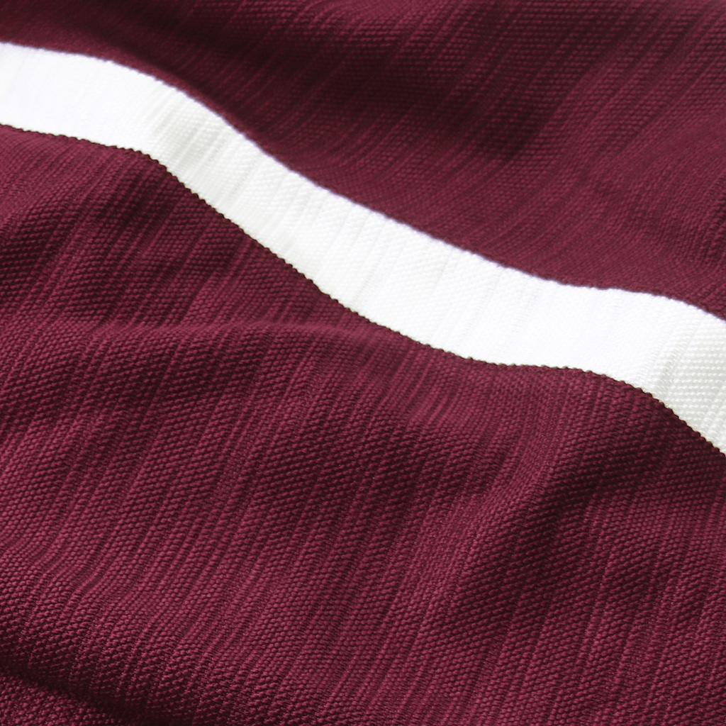 Side Stripe Tech Joggers - Maroon