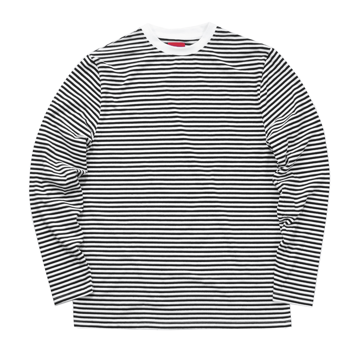 High Neck Striped LS Essential