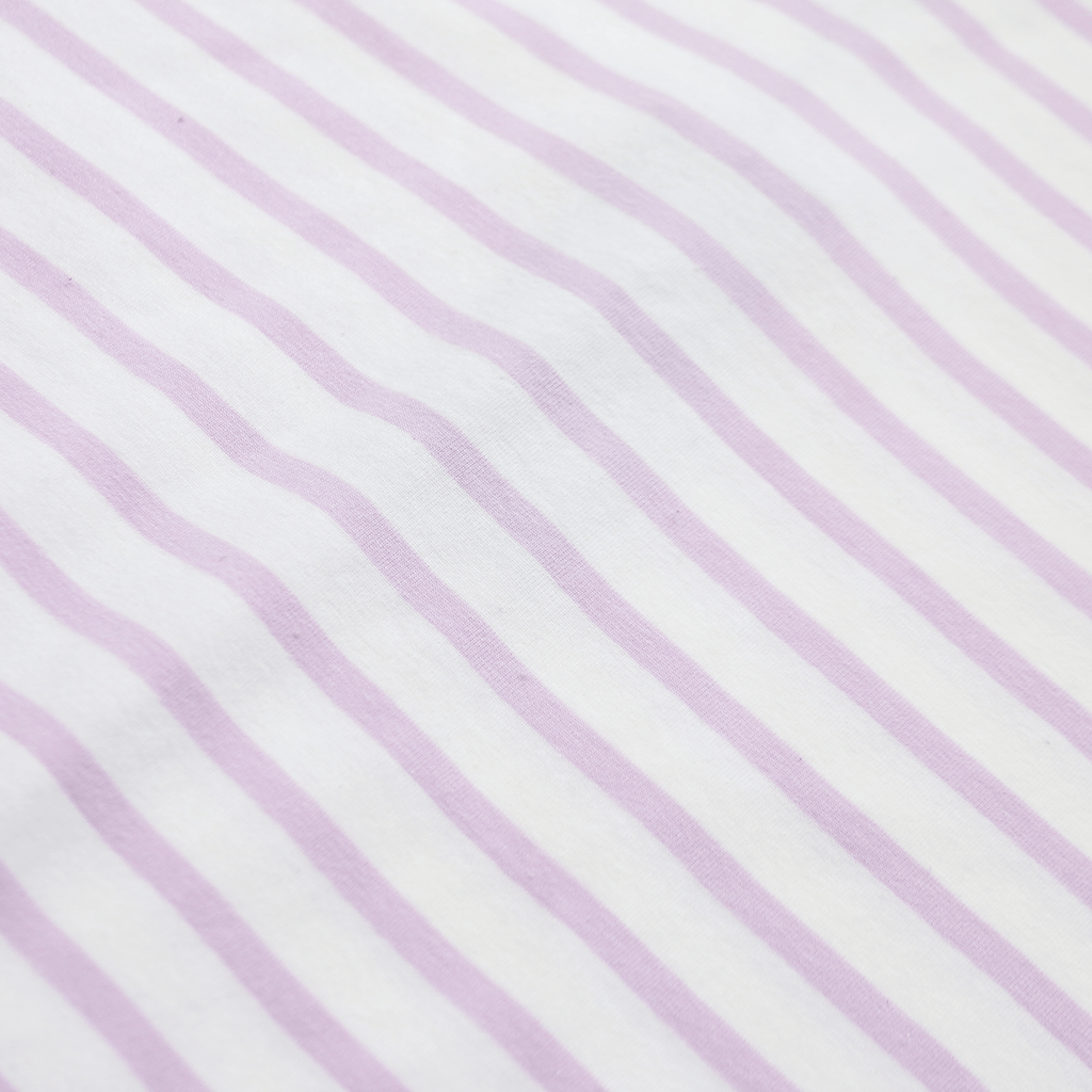 Mulberry Striped Scalloped Shirt - Natural/Violet