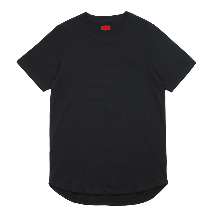 Premium Scallop Extended Tee - Black (05.21.2019 Release)