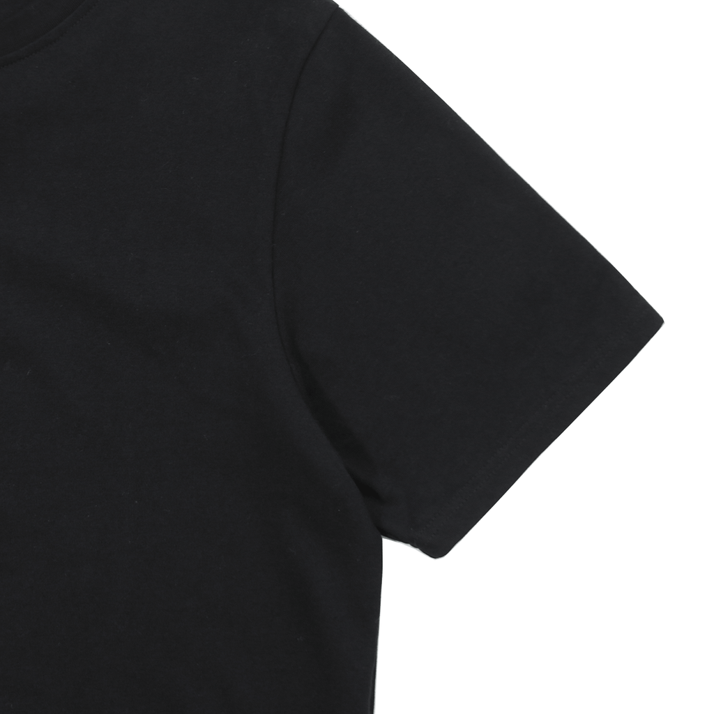 Premium Scallop Extended Tee - Black (05.12.20 Release)