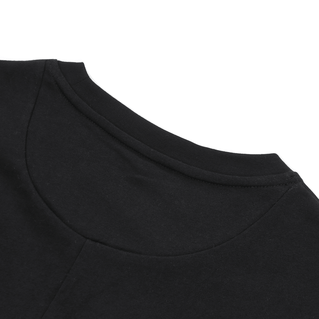 Premium Scallop Extended Tee - Black