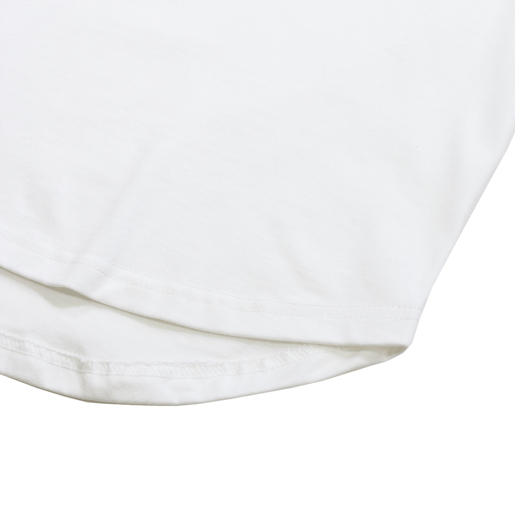 Premium Scallop Extended Tee - Natural