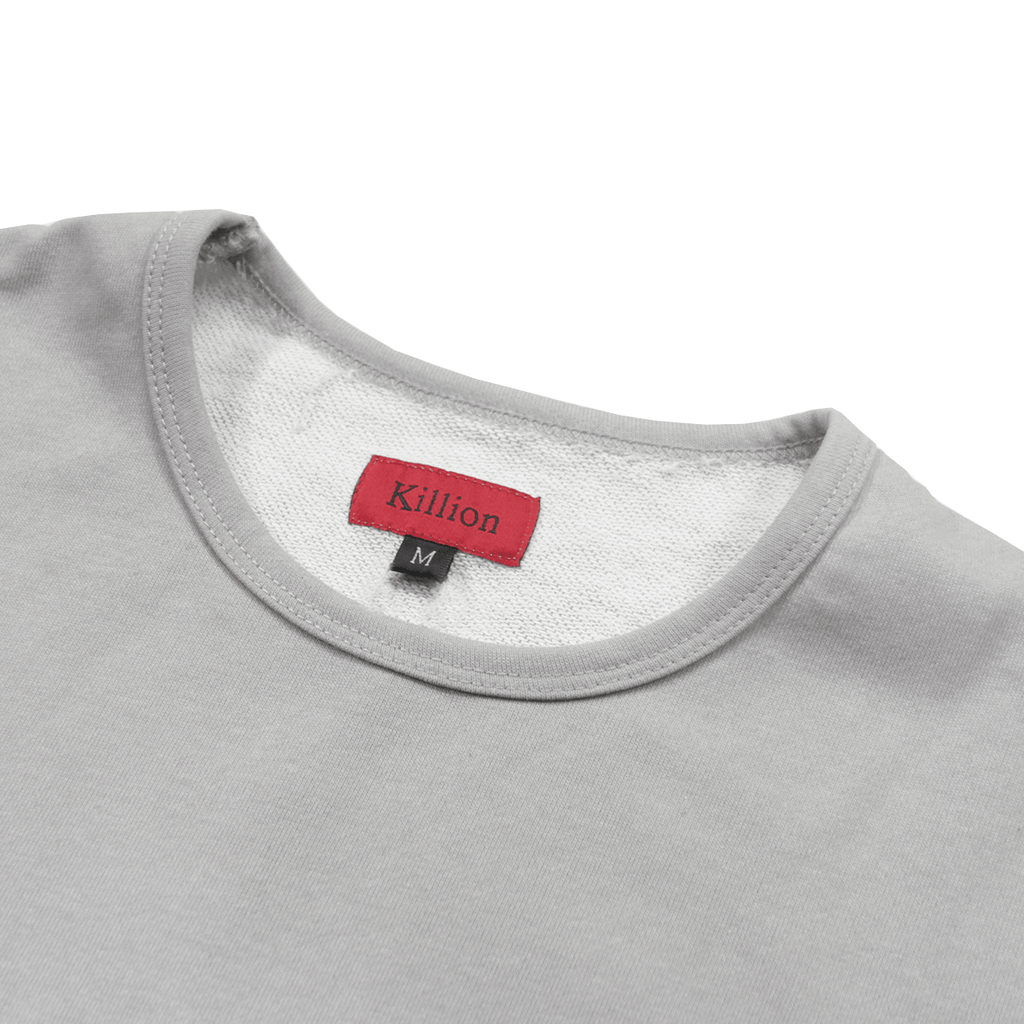 Textured Split Tee - Grey