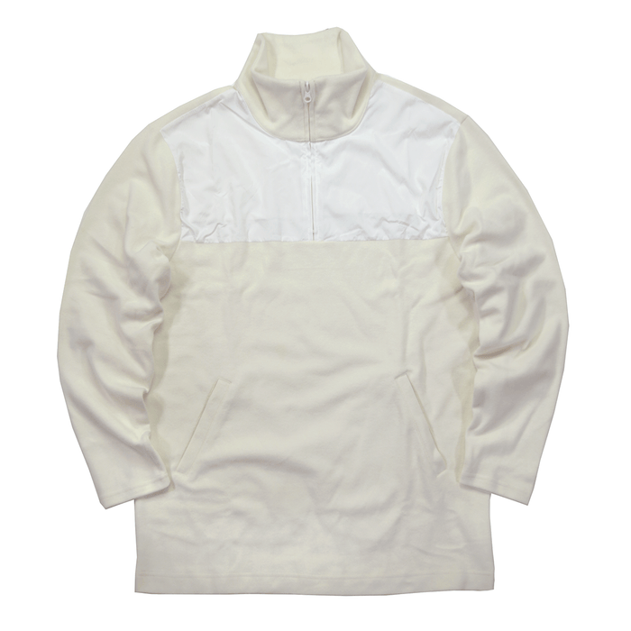 Motley Fleece Quarter Zip - Cream/White