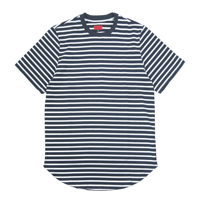 Scoop Striped Shirt - Navy/White