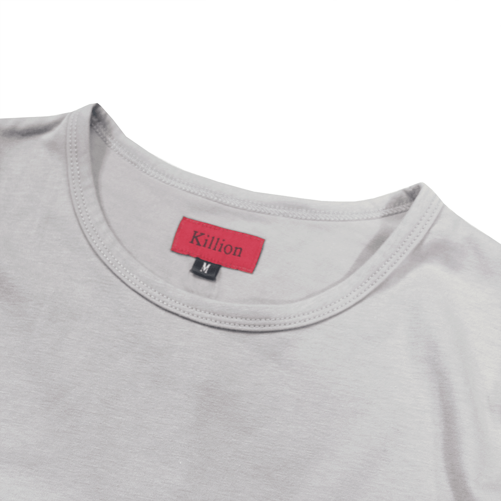 Essential Dropped Shoulder Box Tee - Cement
