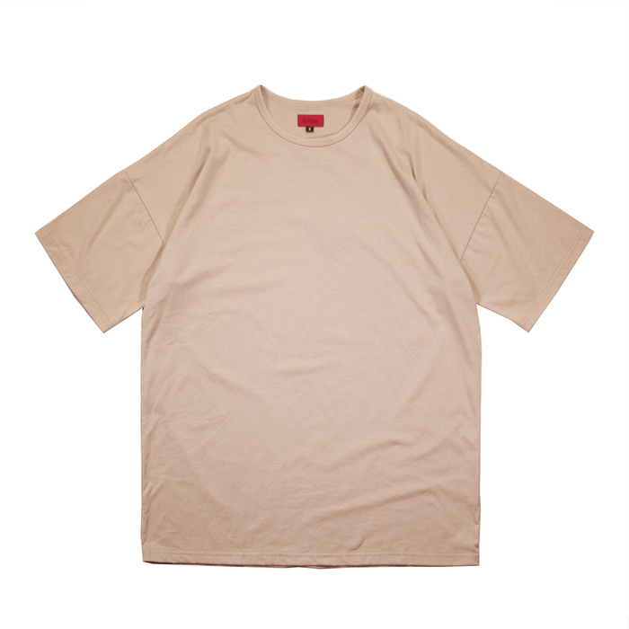 Essential Dropped Shoulder Box Tee - Sand
