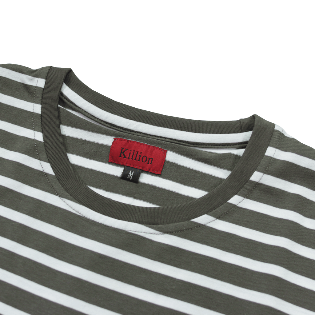 Standard Striped Essential - Light Olive/White