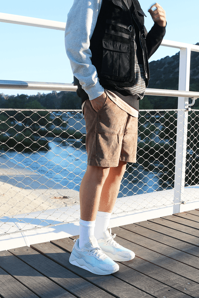 Drexler Corduroy Shorts - Dark Brown