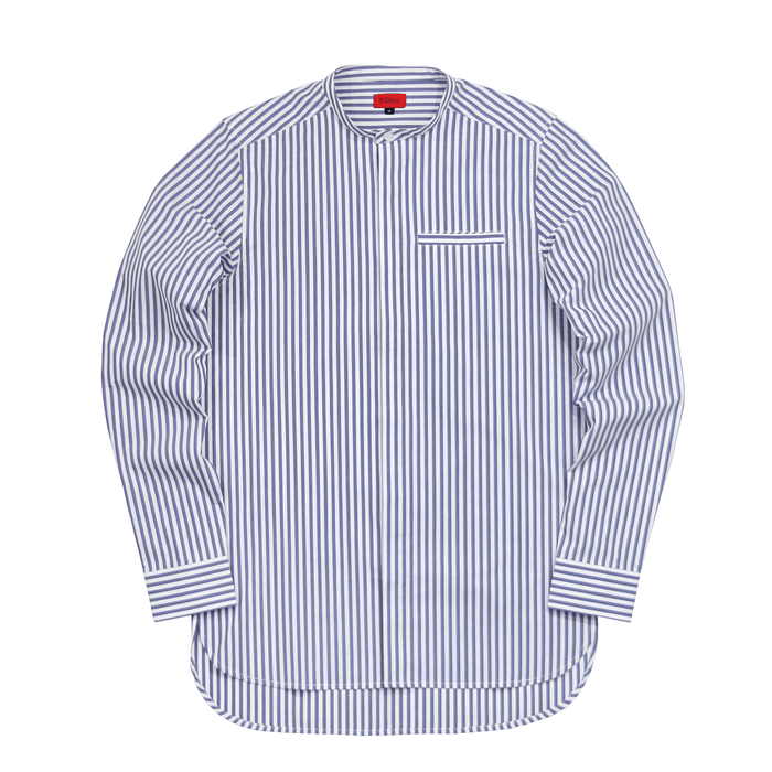 Striped Long Sleeve Grandad Top