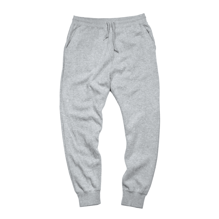Yankee Blue Block Logo Sweatpants - Heather Grey