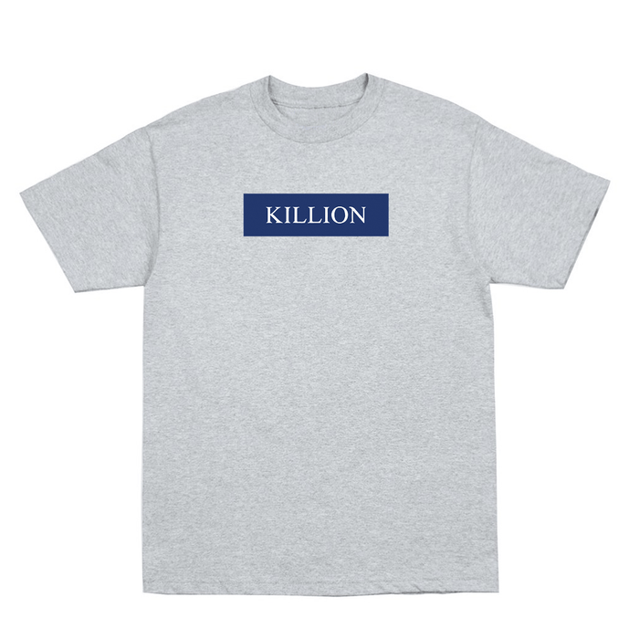 Yankee Blue Block Logo Tee - Heather Grey