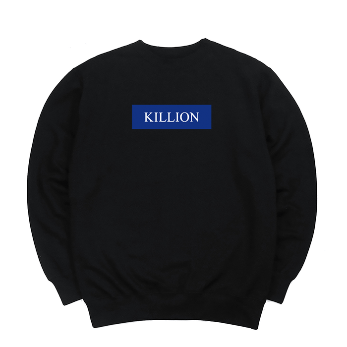 Dodger Blue Block Logo Crewneck - Black