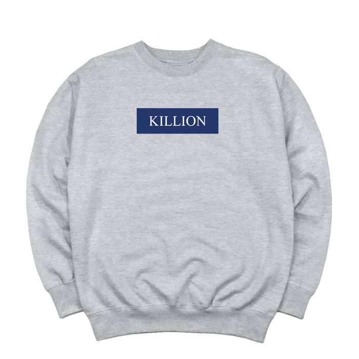Yankee Blue Block Logo Crewneck - Heather Grey