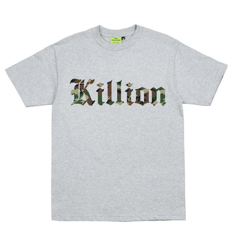 Camo English Tee - Heather Grey
