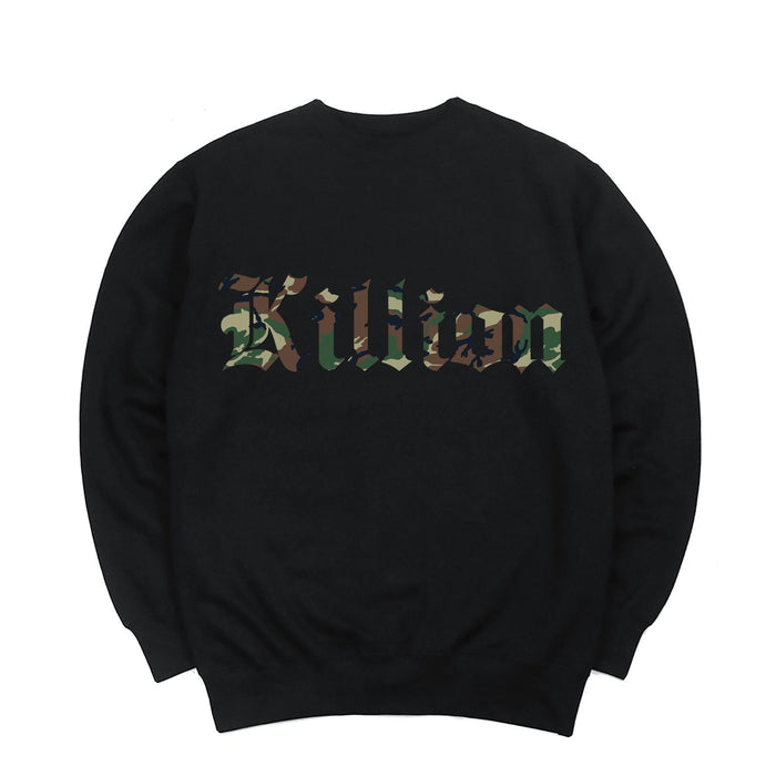 Camo English Crewneck - Black