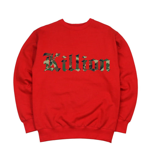 Camo English Crewneck - Red