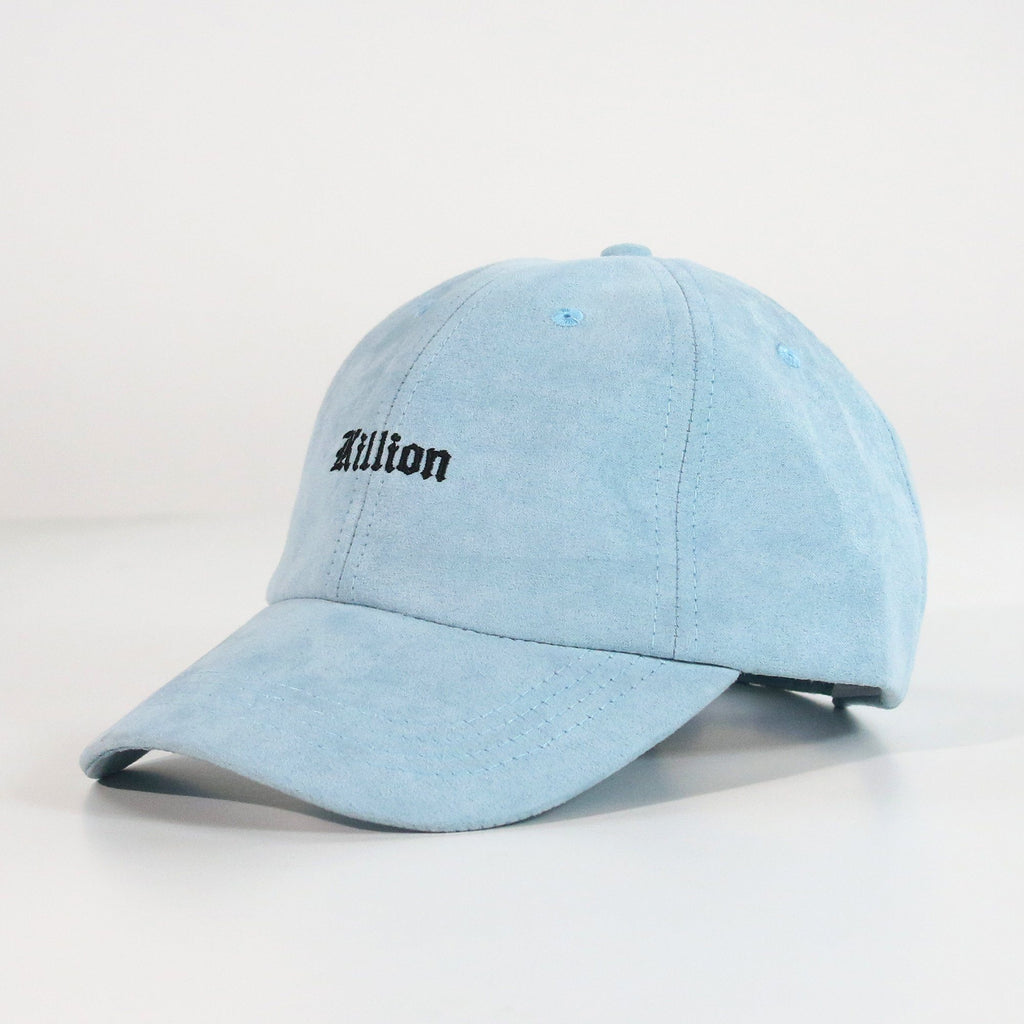 English Suede Dad Hat - Blue