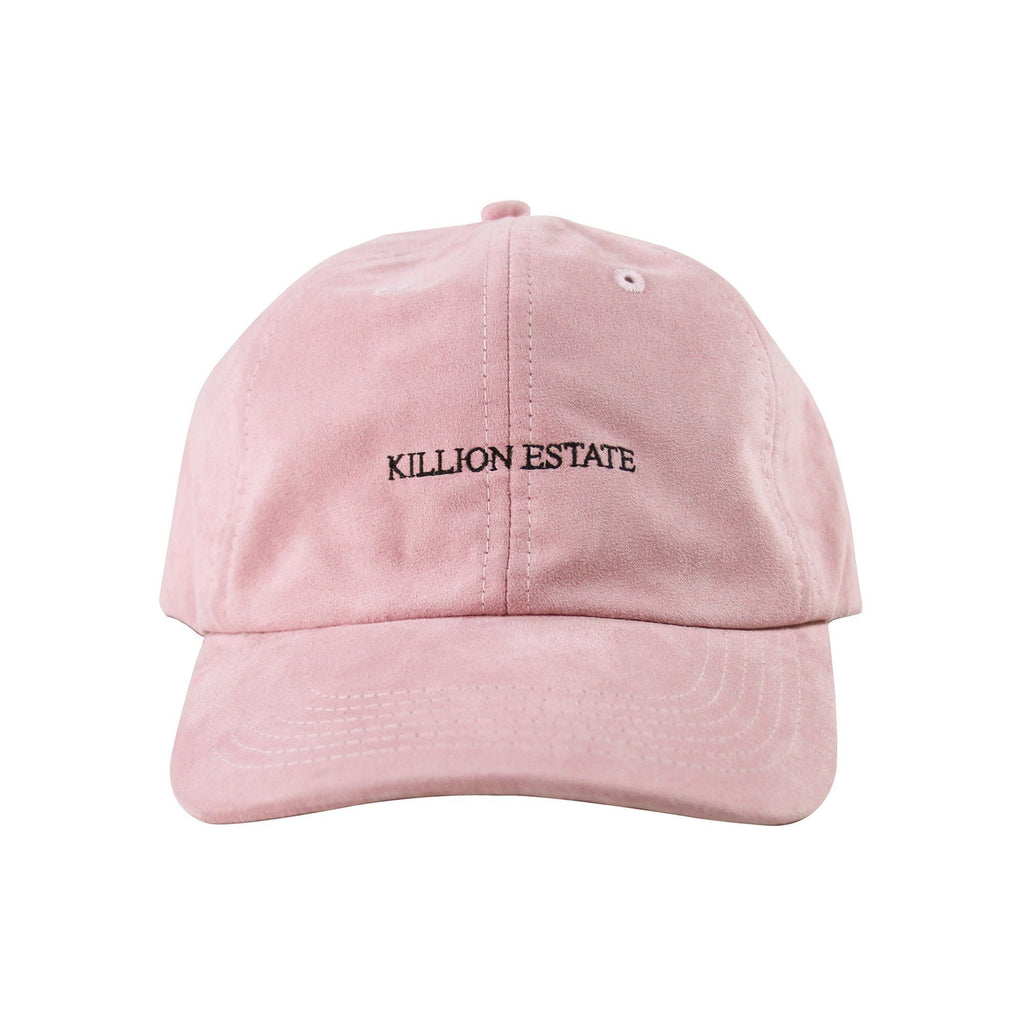 Suede Estate Dad Hat - Peach