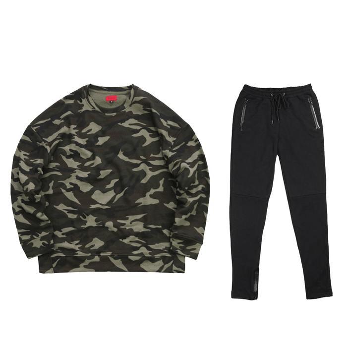 Camo Bundle - Oversized Crewneck/Terry Trackers