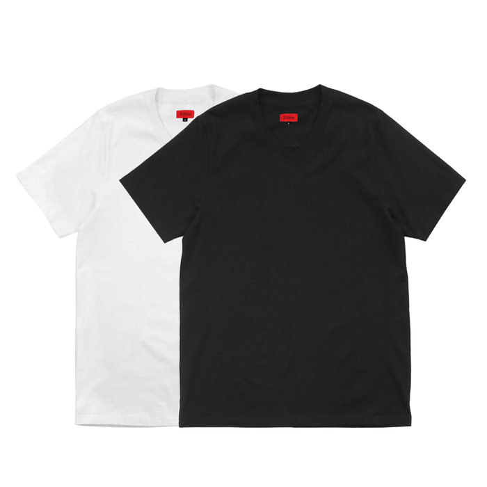 2-Pack Premium V-Neck Tee - Black/White