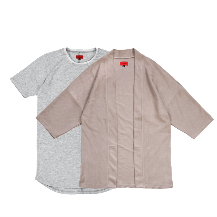 Terry Kimono Stone / SI-12 Heather Grey