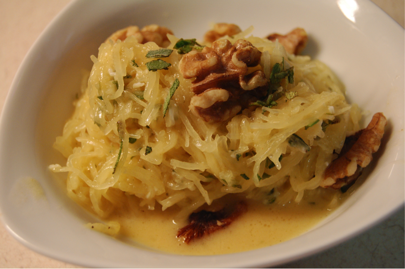 winter herb spaghetti squash