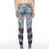 Alternating Panel Leggings - Misty Wilderness print