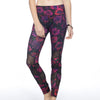 Alternating Panel Leggings - Nocturne print