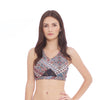 Criss Cross Sports Bra - Journey print