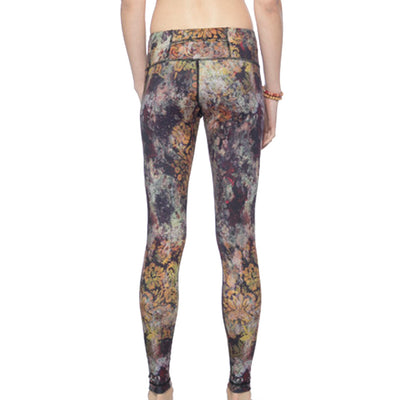 Full Length Leggings - Golden Wilderness print