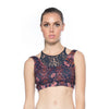 Layered Sports Bra - Royal Opulence print