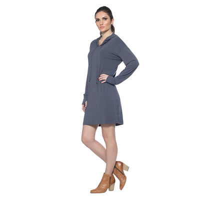 Long Sleeve Dress - Charcoal