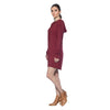 Long Sleeve Dress - Maroon