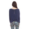 Off The Shoulder Sweater - Navy