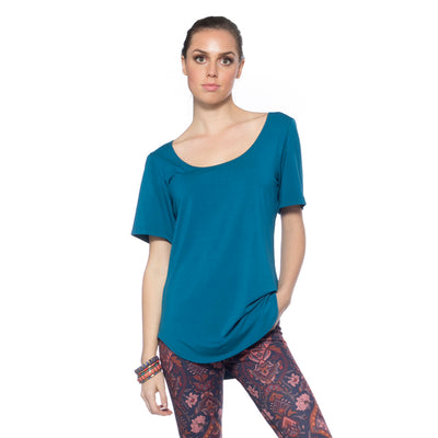 Scoop Neck Tee - Teal