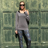 Tear Drop Tunic - Gray